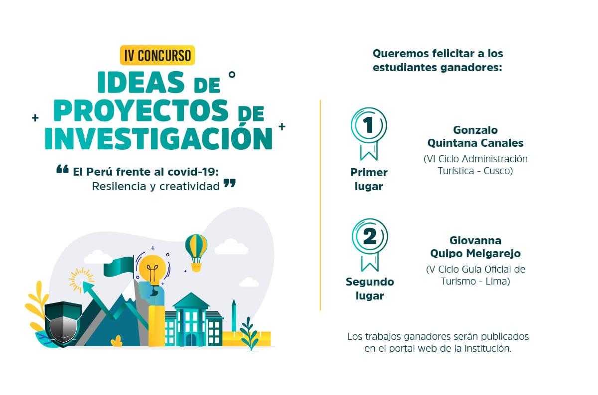 Estudiantes de Cusco y Lima ganan IV Concurso de Ideas de Proyectos de Investigación del CENFOTUR