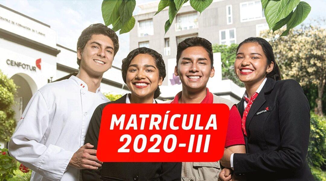 COMUNICADO PROCESO DE MATRÍCULA AL PERIODO ACADÉMICO 2020 – III